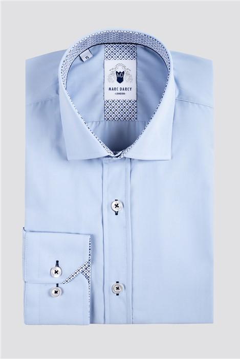 Marc Darcy Sergio Light Blue Classic Fit Shirt