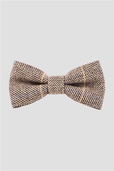 Marc Darcy DX7 Tan Check Bow Tie