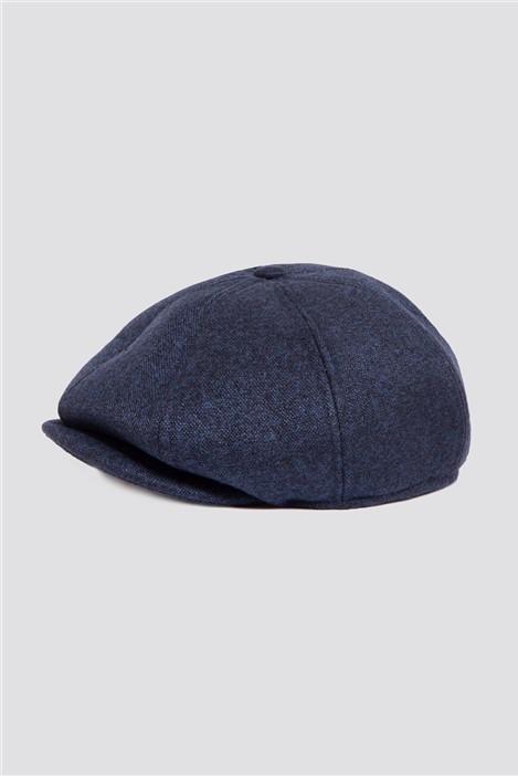 Marc Darcy Rayford Navy Tweed Baker Boy Hat