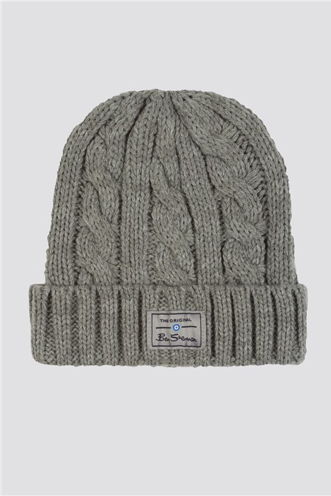 Ben Sherman Reyes Cable Knit Hat and Scarf Set