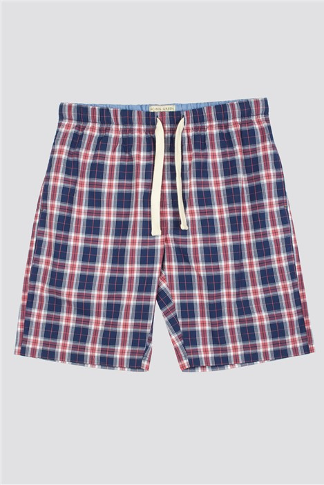 Racing Green Navy New Cas Checked Lounge Short