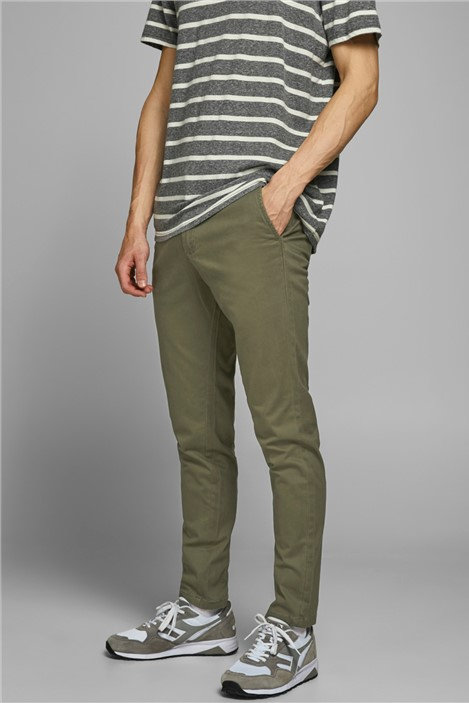 Jack & Jones Green Slim Fit Chino