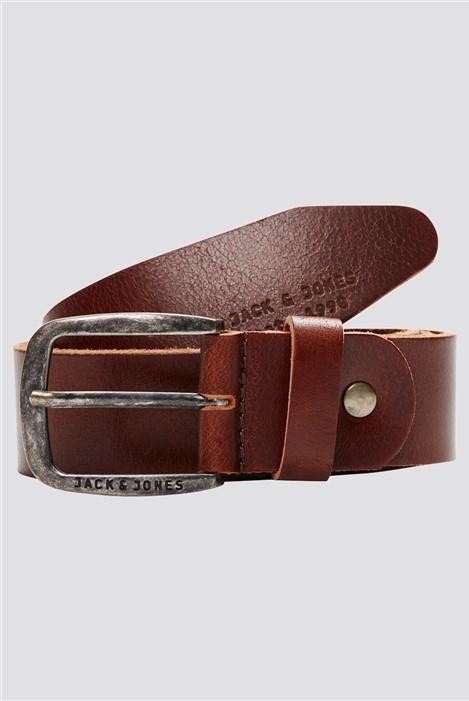 Jack & Jones Brown Leather Belt