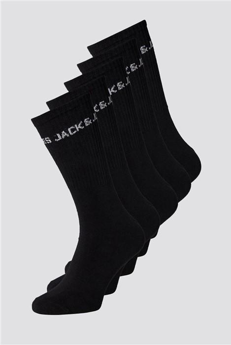 Jack & Jones Black Logo Tennis Socks
