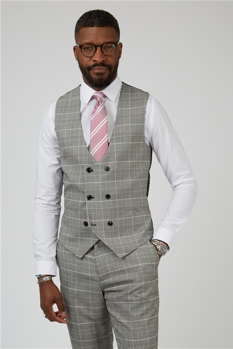 Marc Darcy Ross Grey Suit Waistcoat