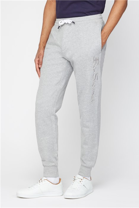 Ben Sherman Embroidered Grey Marl Joggers