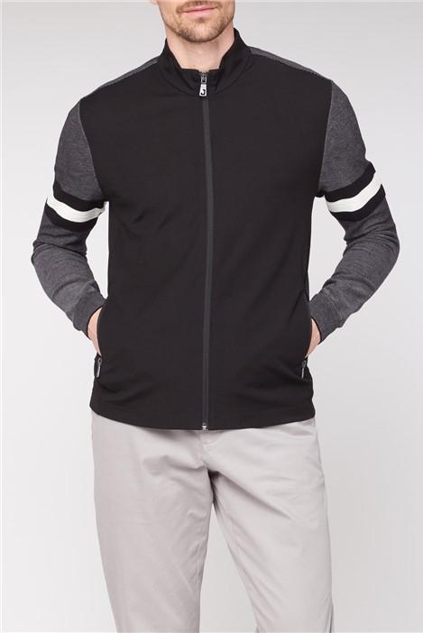 Jeff Banks Black Bomber Jacket