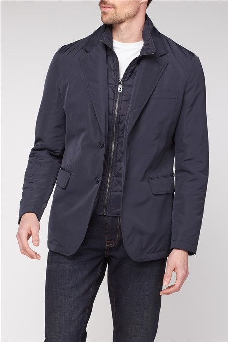 Jeff Banks Blazer with Quilted Insert