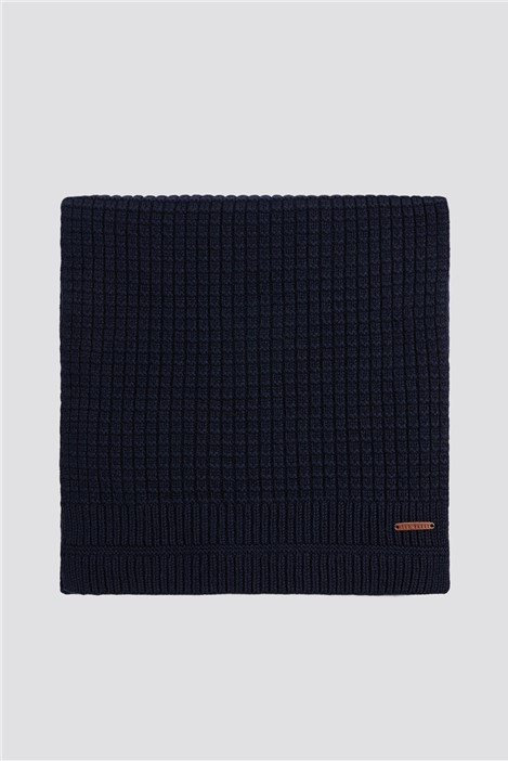 Ted Baker Navy Ribbed Scarf