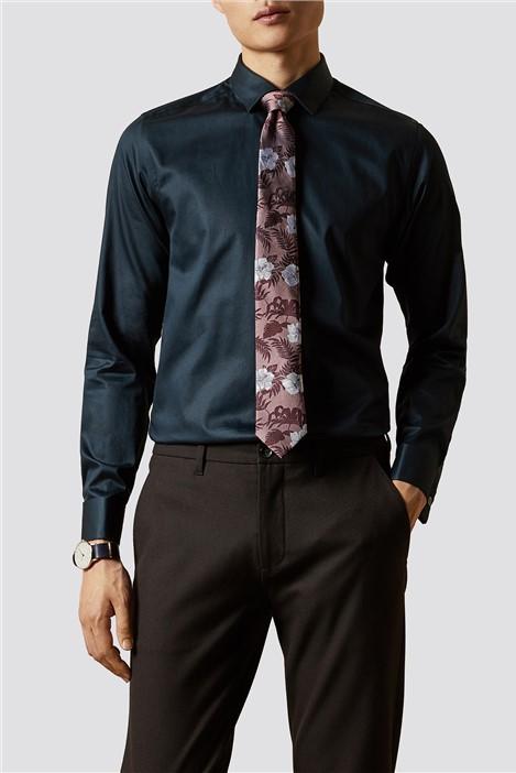 Ted Baker Navy Slim Fit Shirt