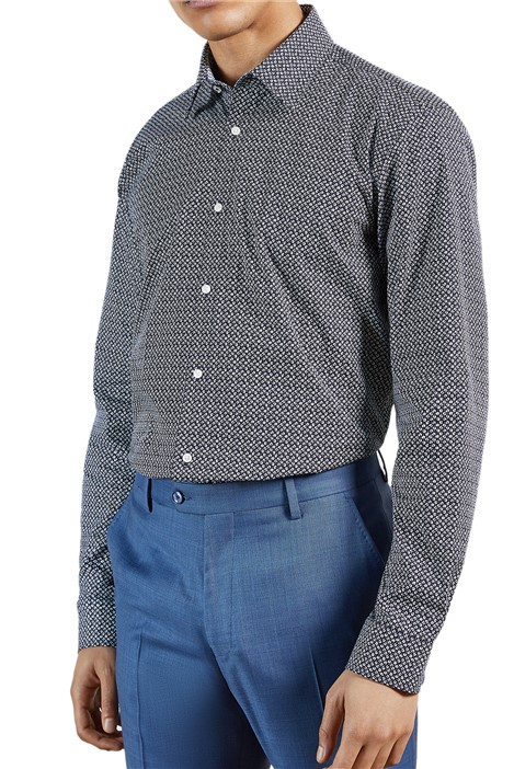 Ted Baker Navy Ditsy Print Shirt