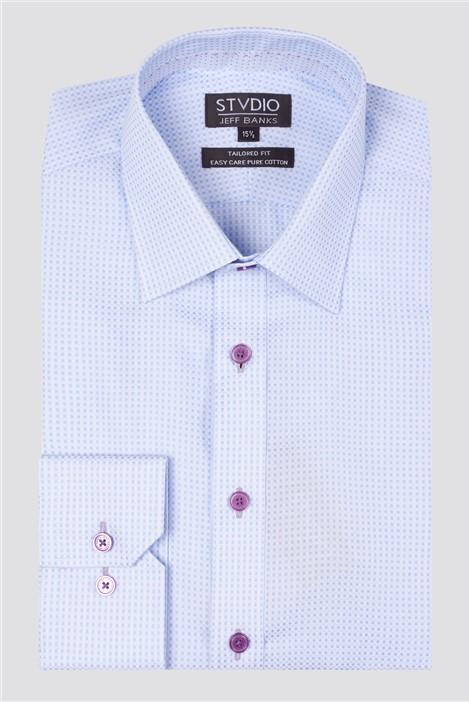 Jeff Banks Stvdio Dobby Spot Formal Shirt