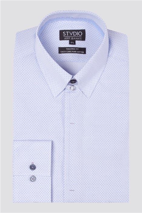 Jeff Banks Stvdio Semi Plain Spot Print Shirt