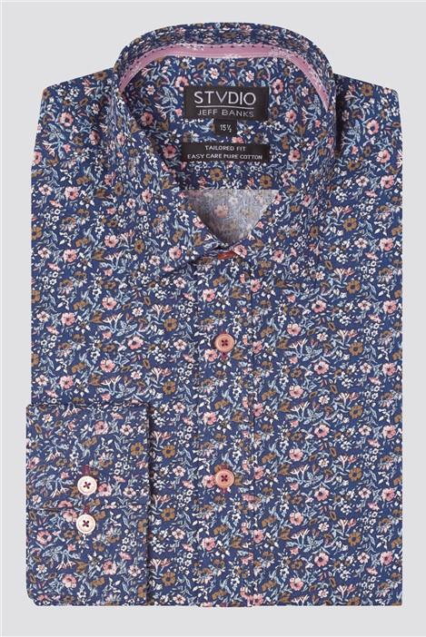 Jeff Banks Stvdio Multi Floral Print Shirt