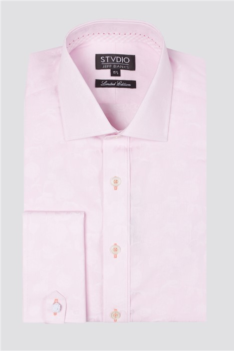Jeff Banks Stvdio Long Sleeve Floral Dobby Shirt