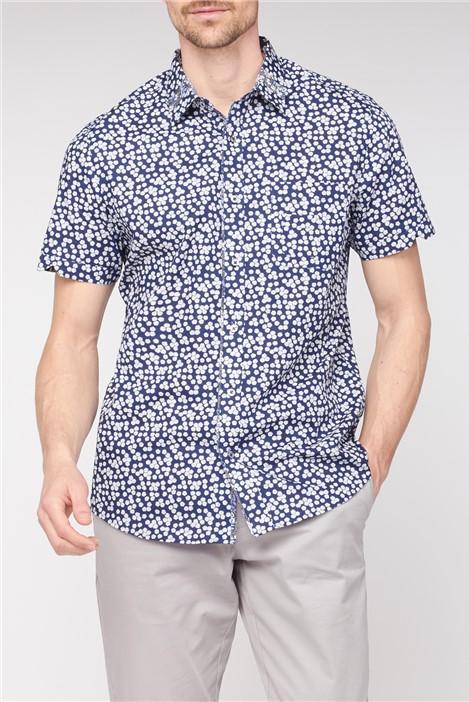 Jeff Banks Short Sleeve Floral Print Shirt