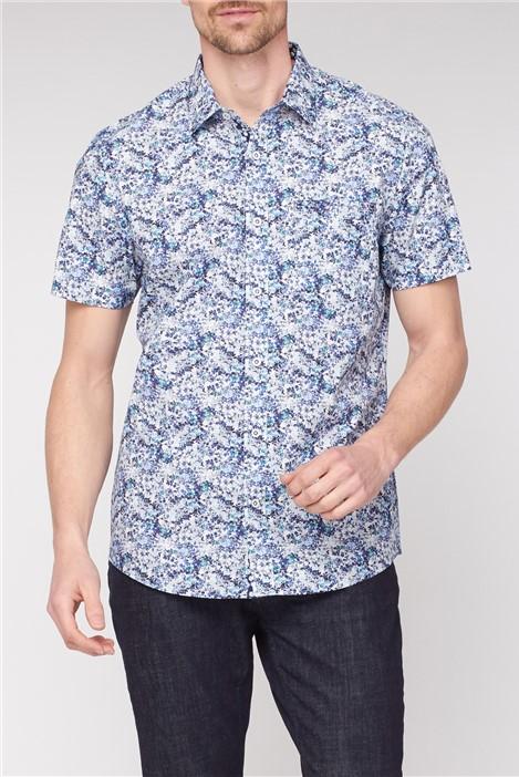 Jeff Banks Blurred Floral Print Smart Casual Shirt