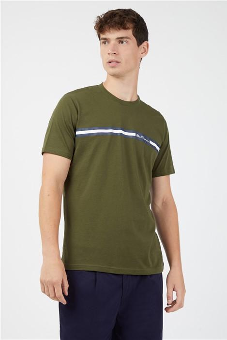Ben Sherman Camouflage Chest Stripe T-Shirt