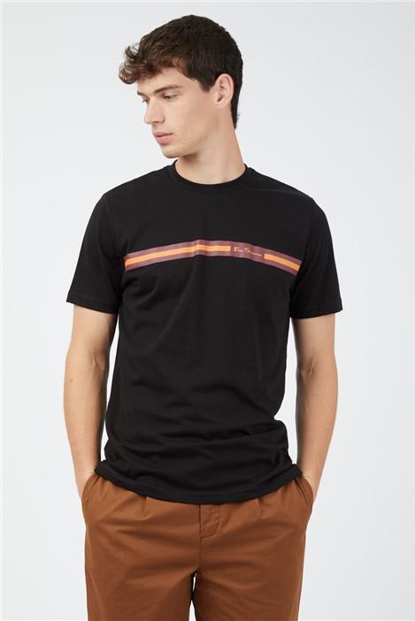 Ben Sherman Black Chest Stripe T-Shirt