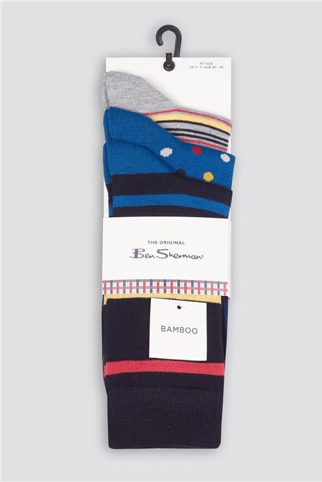Ben Sherman Whirlaway Multipack Socks
