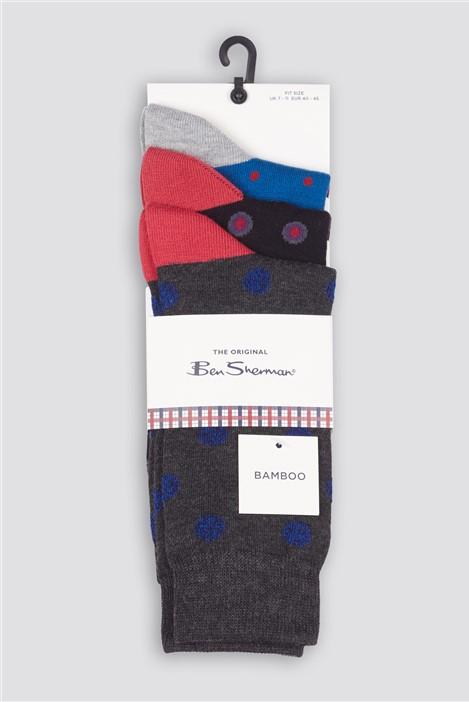 Ben Sherman Script Buchanan Multipack Socks