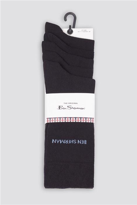 Ben Sherman Headgehunter Black Multipack Socks