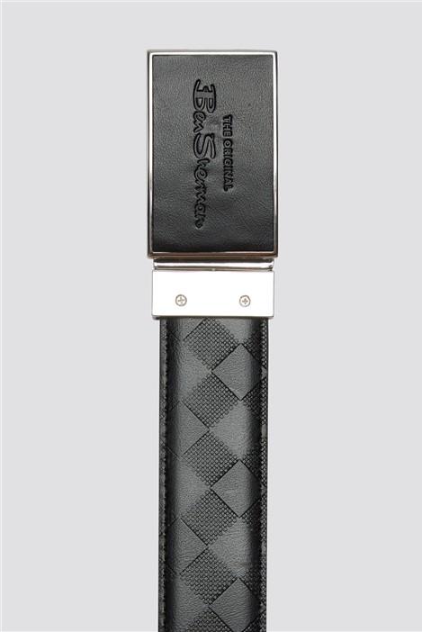Ben Sherman Black & Pattern Reversible Belt