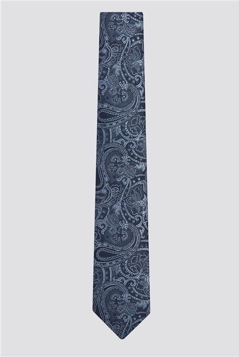 Racing Green Blue Paisley Tie