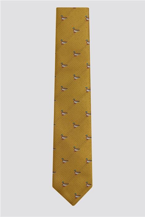 Racing Green Gold Duck Tie