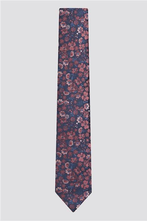 Racing Green Pink & Blue Floral Tie