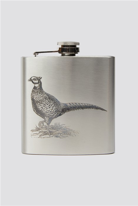 Racing Green Pheasant Hip Flask