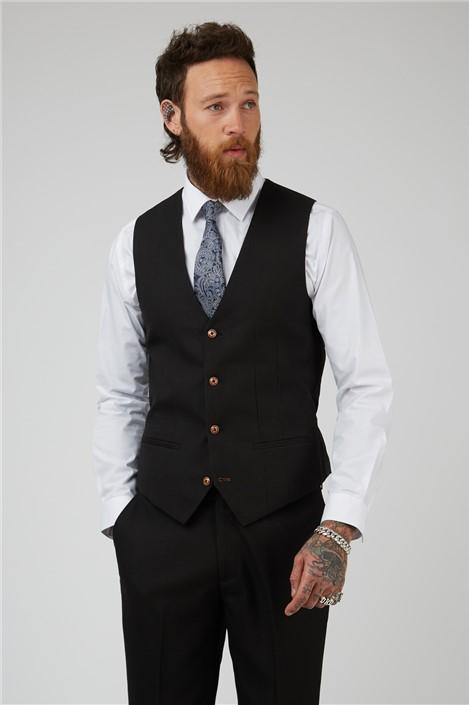 Marc Darcy Max Black Waistcoat