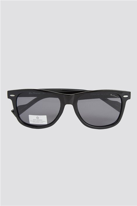 Ben Sherman Script Black Contrast Lenses Round Frame Sunglasses