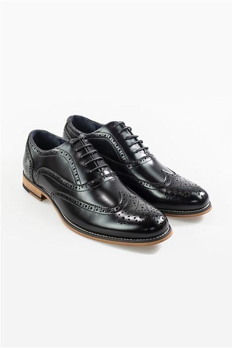 House of Cavani Black Oxford Shoes