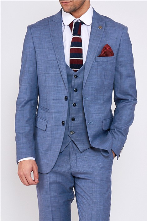 Marc Darcy Blue Sid Three Piece Suit