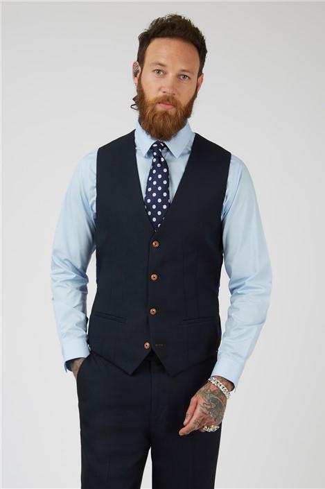 Marc Darcy Max Navy Waistcoat