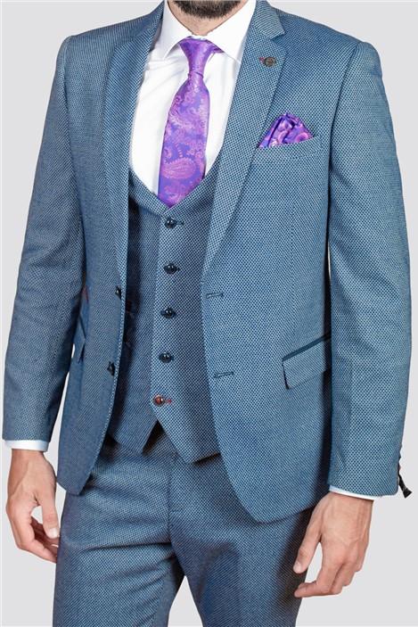 Marc Darcy Wilson Navy Birdseye Suit