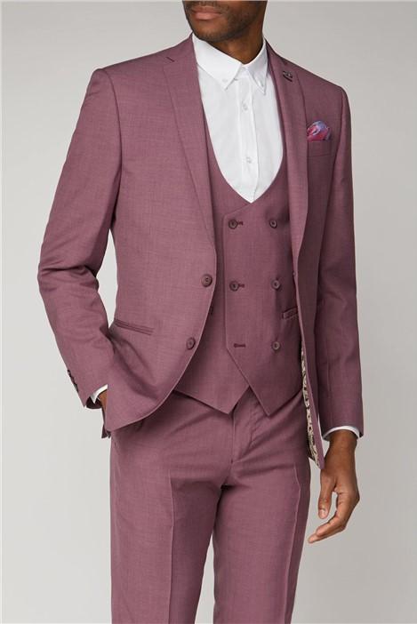 Antique Rogue Purple / Raspberry Textured Slim Fit Suit