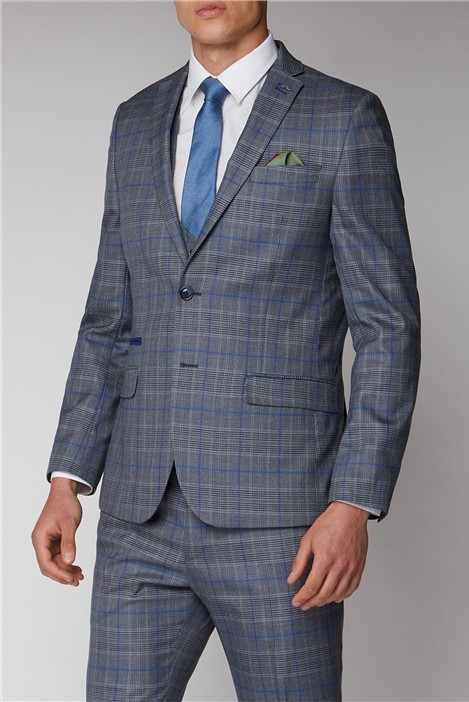 Antique Rogue Grey and Blue Check Suit