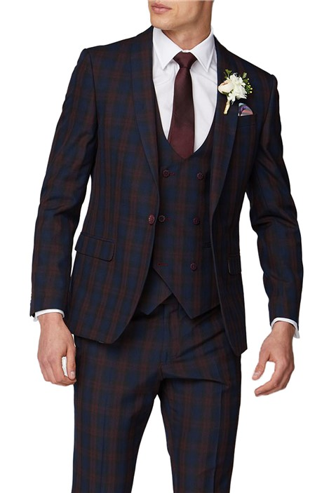 Antique Rogue Red Tartan Suit