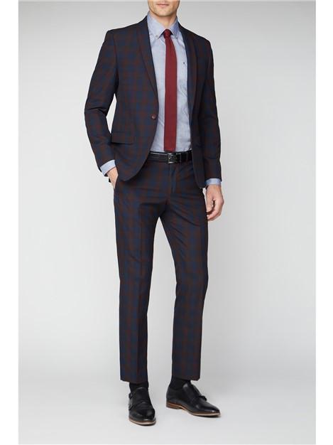 Antique Rogue Red Tartan Slim Fit Suit