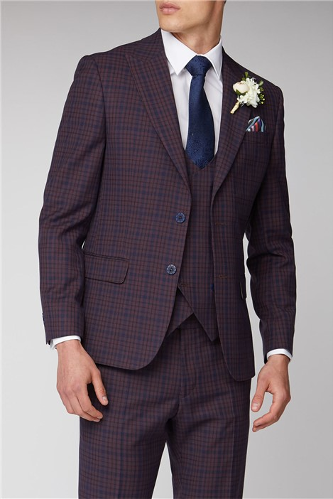 Antique Rogue Pink and Blue Check Suit