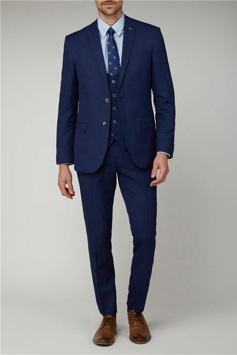 Antique Rogue Cobalt Graph Check Suit