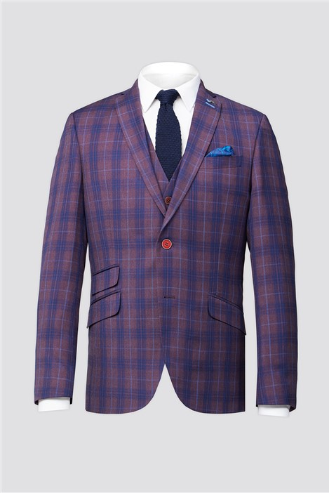 Antique Rogue Purple Check Suit