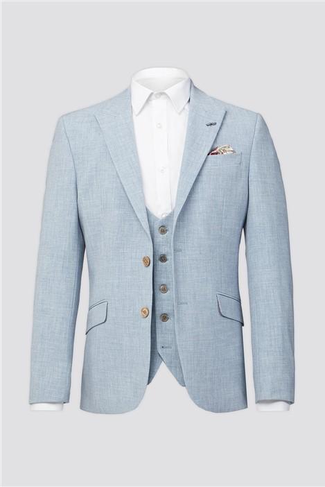 Antique Rogue Light Blue Plain Suit