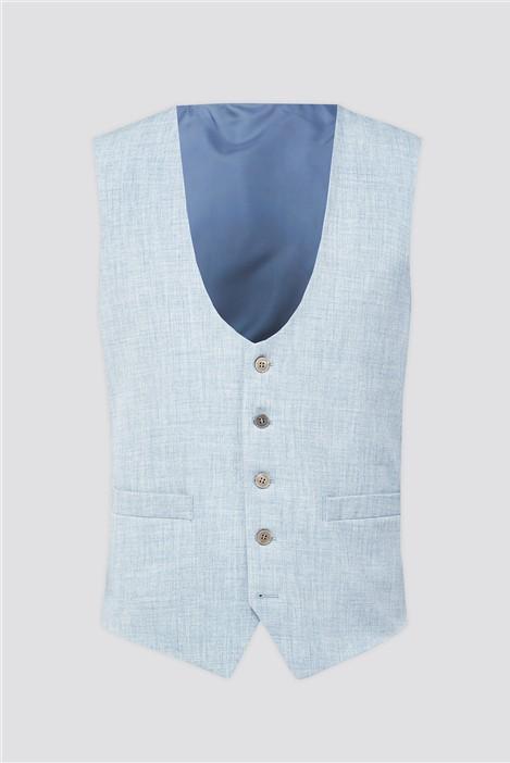 Antique Rogue Light Blue Plain Waistcoat