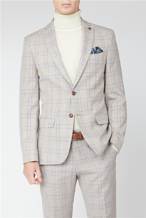 Antique Rogue Cream Tweed with Taupe Overcheck Suit
