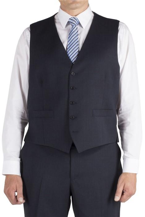 British Tailor Big+Tall Blue Birdseye Regular Fit Waistcoat
