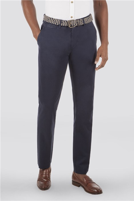 Gibson London Navy Cotton Chinos