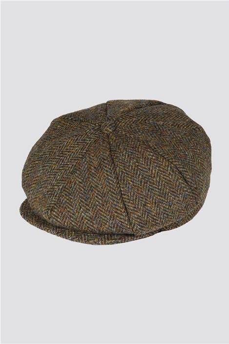Gibson London Green Tweed Bakerboy Hat